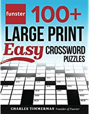 Funster 100+ Large Print Easy Crossword Puzzles: Crossword Puzzle Book for Adults