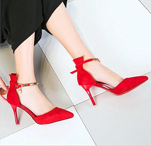 Tip de boda Mujer KHSKX Zapatos Trabajo Chica altos 39 trabajo de finos Red desplazándose 9Cm mujer de y The elegantes Zapatos Tacones BB8Ezq