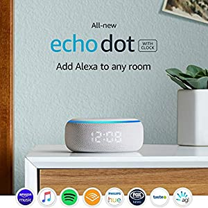 All-new Echo Dot (3rd Gen) - Smart speaker with clock + Alexa - Sandstone Fabric