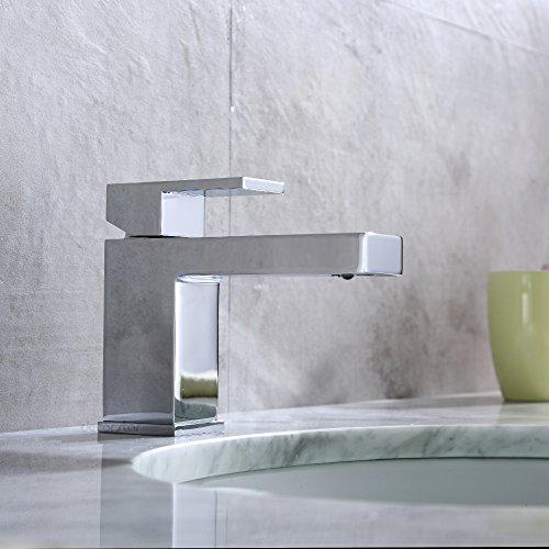 Decor Star BPC05-SC Single Handle Hole Bathroom Vanity Sink Lavatory Faucet UPC cUPC NSF AB 1953 Lead Free Chrome 50%OFF
