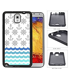 Ship Captain's Wheel And Anchor Pattern Rubber Silicone TPU Cell Phone Case Samsung Galaxy Note 3 III N9000 N9002 N9005