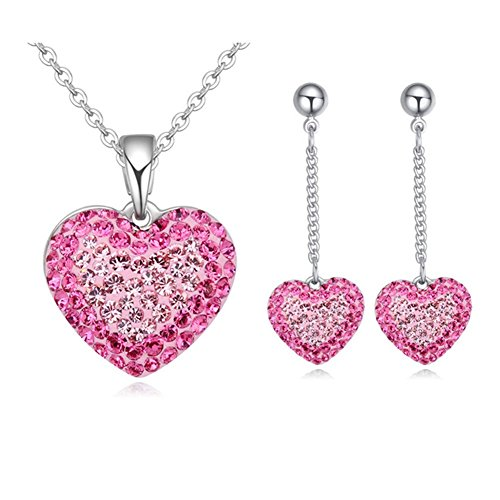 Btime Sweet Heart Crystal Jewelry Set Crystals from Swarovski by Btime