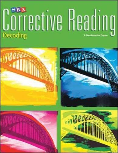Corrective Reading Decoding Level C, Teacher Materials Package (CORRECTIVE READING DECODING SERIES) by McGraw-Hill Professional