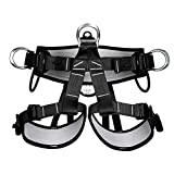 Climbing Harness - Camping Safety Belt, Professional Mountaineering Rock Climbing Harness, Rappelling Safety Harness for Climbing Hiking Training