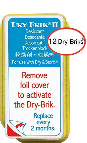 Dry-Brik® II Desiccant Blocks - 12 Blocks (4 Packs of 3 Blocks)| Replacement Moisture Absorbing Block for the Global II and Zephyr by Dry & Store | Hearing Device Dehumidifiers