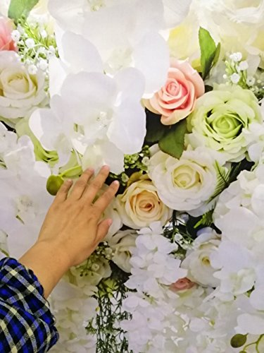 HUAYI 10x8ft White Flower Backdrop Curtain Floral 3d flower Wedding Party Background Photo Backdrop for wedding reception Baby shower Photo Booth Props Xt-6749 by HUAYI (Image #4)
