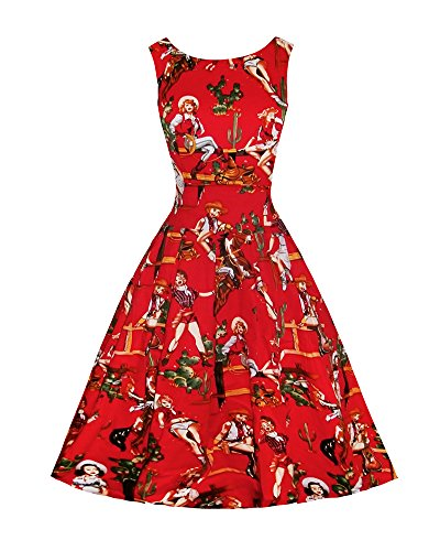 LaoZan Damen Abendkleider Retro SwingKleid Gartenparty Kleid ...