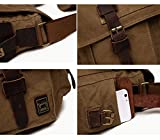 Berchirly Vintage Military Men Canvas Messenger Bag for 13.3Inch Laptop