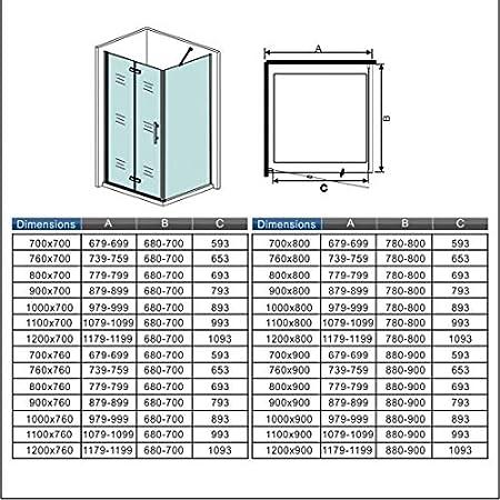 Mamparas Angular Plegable Panel Fijo 6mm Antical 100x90x195cm