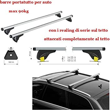 Compatible con BMW X3 (F25) 11/10>02/14 Racks DE Techo para Coche Barra DE 120CM para Coches con Baja Escalera ADJUNTA AL Rack DE Equipaje DE Techo Aluminio 90KG Aprobado: Amazon.es: Coche y