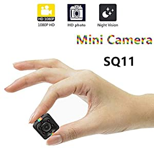 Mini Camera Portable Full HD 1080P Small Hidden Body Cam with Night Vision, Motion Detection, Indoor/Outdoor Use, Spy Camera, Security Camera, Monitoring for kids, Pets