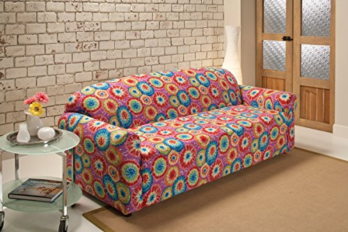 Madison Stretch Jersey Sofa Slipcover, Geometric, Tie Dye (Henredon)