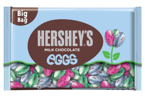 HERSHEY'S EGGS Chocolates, Creamy Solid Milk Chocolate Candy Individually Wrapped in Easter Packaging, 18 Ounce Bag (Pack of 3)