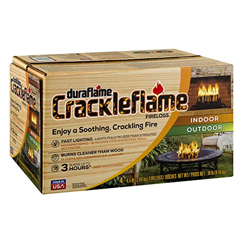 duraflame Crackleflame 4.5lb 3-hr Indoor/Outdoor Firelog, 4-pack ()