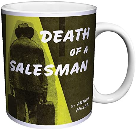Amazon Com Arthur Miller Death Of A Salesman Classic Literature Literary Vintage Play Book Cover Art Decorative Ceramic Gift Coffee Tea Cocoa 11 Oz Mug Kitchen Dining