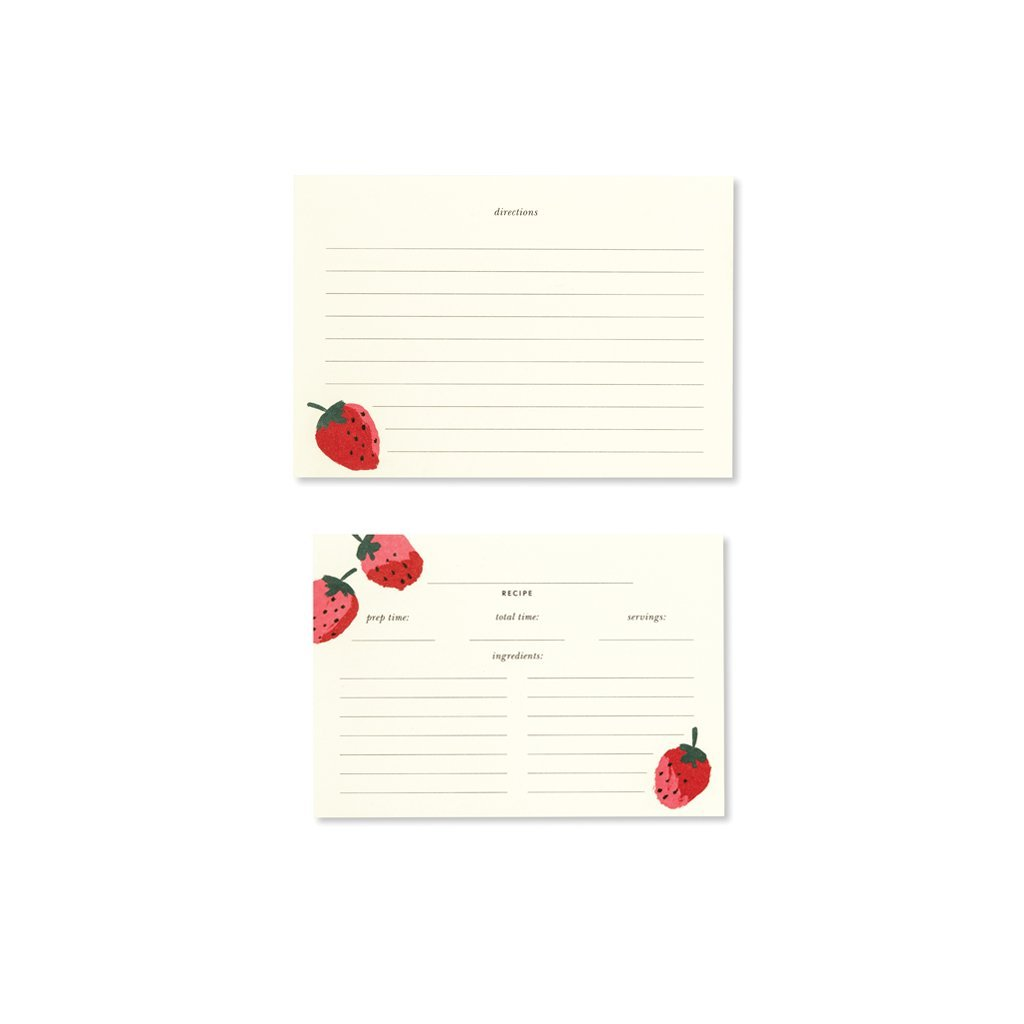 kate spade new york Recipe Card Refills Set of 40- Strawberries Lifeguard Press