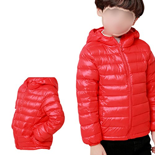 Ragazze Bambini Tuta Piumino Con Caldo Rosso Cappuccio Anatra Cappotto Meijunter Capospalla Antivento Ragazzi UExdOWqqBw