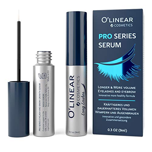 Eyelash Growth Serum - Lash and Eyebrow Enhancer - Natural Booster for Rapid Lash and Brow Growth - EU Made Nutrition and Regeneration Eyelash Serum for Extension, Thickness and Nature Look (Eyelash Growth Solution)