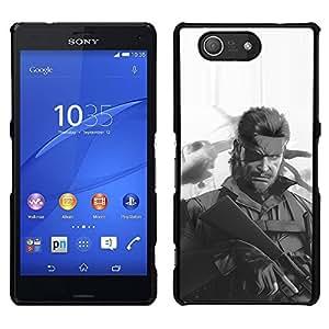 Sony Xperia Z4v / Sony Xperia Z4 / E6508 - Metal de aluminio y de plástico duro Caja del teléfono - Negro - Metal Gear S0Lid Snake