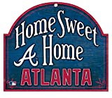 Atlanta Braves HOME SWEET HOME Atlanta with Logo WOOD SIGN 10 x 11 inches