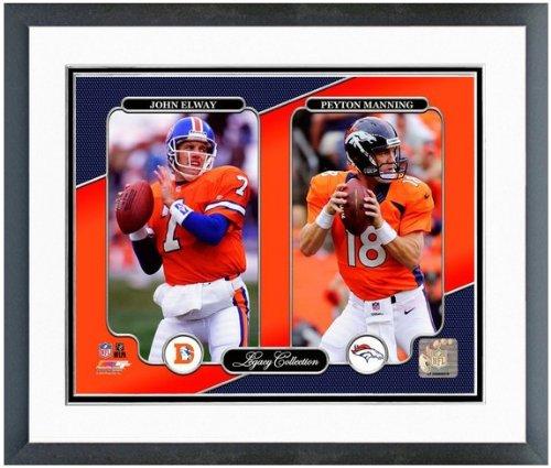 "Peyton Manning John Elway Denver Broncos NFL Legacy Photo 12.5"" x 15.5"" Framed"