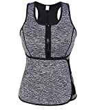 Slimmkiss Neoprene Sweat Vest for Women, Slimming Body Shaper with Adjustable Waist Trimmer Belt, Weight Loss(Grey,Medium)