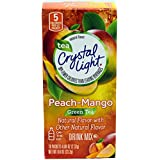 Crystal Light On The Go Peach Mango Green Tea Drink Mix, 10-Packet Box (Pack of 12)