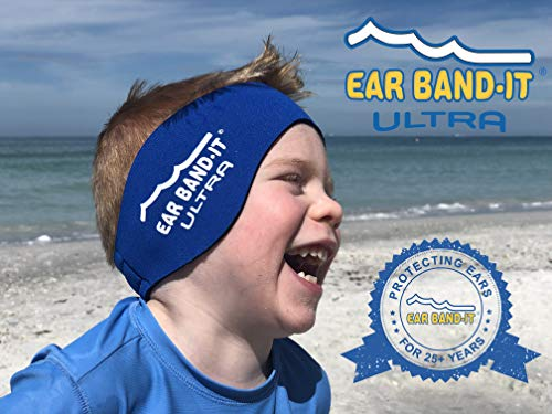 Ear Band-It Ultra Swimming Headband - Best Swimmer's Headband - Keep Water Out, Hold Earplugs in - Doctor Recommended - Secure Ear Plugs - Invented by ENT Physician ()