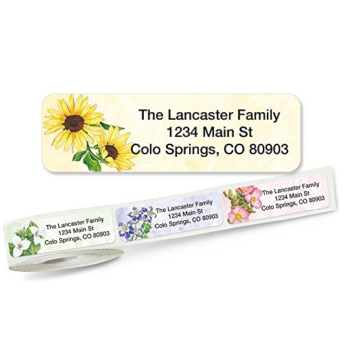 Address Labels with Clear Dispenser by Colorful Images (5 Designs) Roll of 250 (5 Designs Rolled Address Labels)