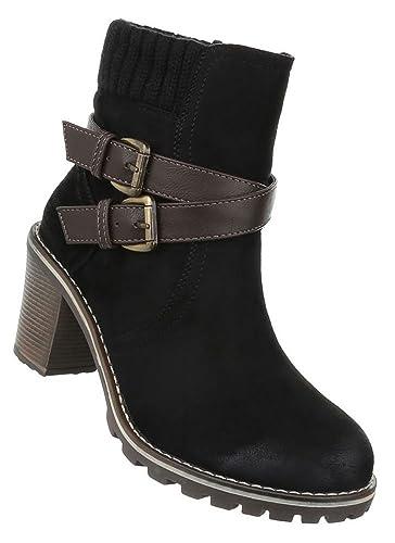 5766987378c7 Damen Schuhe Stiefeletten Schnür Boots Used Optik  Amazon.de  Schuhe ...