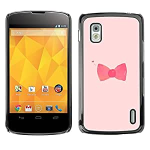 SKCASE Center / Funda Carcasa - Red Fashion Design Rose - LG Nexus 4 E960