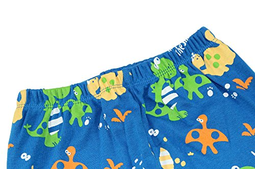 Boys Pajamas Boys Dinosaur Little Kid Shorts Set 100% Cotton Clothes Short Sleeves Sleepwear 8Y by shelry (Image #9)