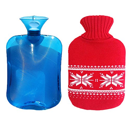 iCorer Premium Classic PVC Transparent Hot Water Bottle with