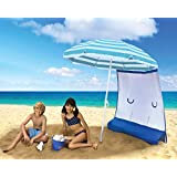 ezShade Double Your Umbrella's Shade & UV Protection (Patented) Sunshield Blocks UVA/UVB, Keeps you Cooler & Attaches to any Nylon/Poly Umbrella (only 9 oz) - Umbrella Not Included