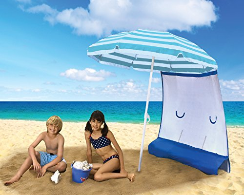 Sun Protection Beach Umbrella and Sunshield Combo