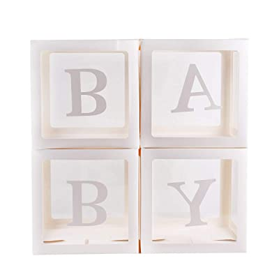 Gender Reveal Baby Shower Box Birthday Decor Baby shower birthday decoration- Perfect for any gender reveal, Decorations for boys and girls.: Toys & Games