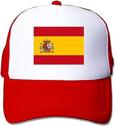 Gorras de béisbol Bandera española Gorras de Malla Sombrero Camionero Sombrero Ajustable, Unisex, Un tamaño: Amazon.es: Ropa y accesorios