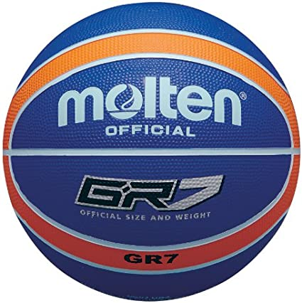 MOLTEN - Balón de Baloncesto (Talla 5), Color Azul y Naranja ...