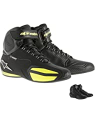 Alpinestars Faster Mens Waterproof Street Motorcycle Shoes - Black/Yellow / 7