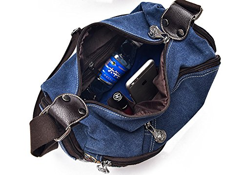 For Blue Canvas Strap Women Messenger One With Bag Shoulder xqAwYTP6