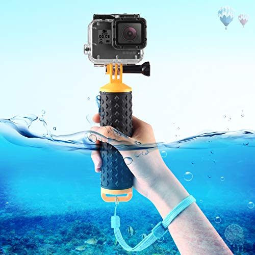 PULUZ Floating Handle Hand Grip Buoyancy Rods with Strap for GoPro New Hero /HERO7 /6/5 /5 Session /4 Session /4/3+ /3/2 /1, DJI Osmo Action, Xiaoyi and Other Action Cameras