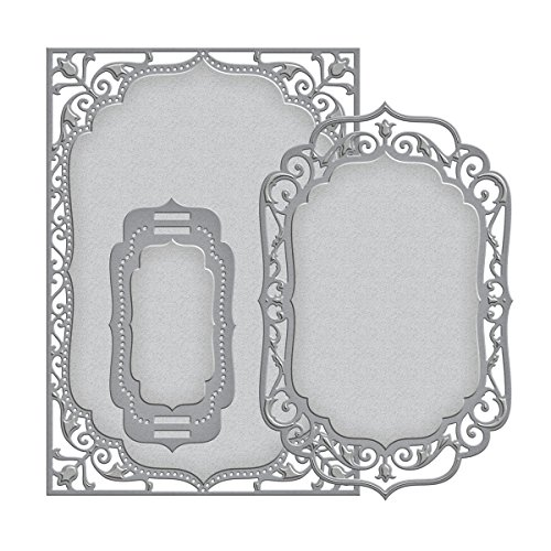 Spellbinders S6-005 Nestabilities Elegant Labels 4-Die Templates, 5 by 7-Inch