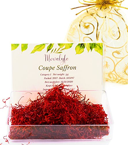 Coupe Spanish Saffron (2 grams) - Category 1 Pure Azafran Filaments (Unmatched Aroma for your Paella and Great Gift for Anyone who Enjoys Cooking and Entertaining) (Coupe 1)