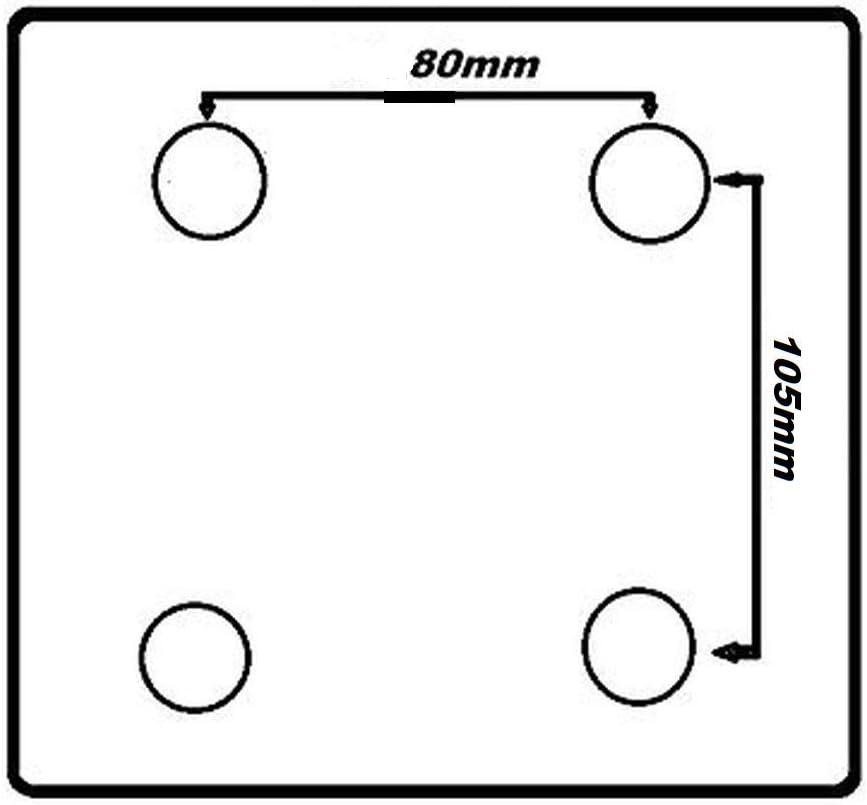 125 mm 150 mm Polypropyl/ène. 80mm ungebremst 100 mm 200 mm Uzman-Versand Roulettes pivotantes en polyamide 80 mm