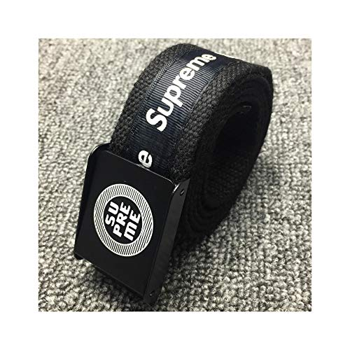 Supreme Belt Fashion adjustable Canvas black and red for men and women