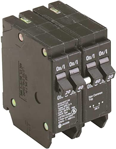 Eaton Bq Quad Breaker One 2 Pole 40 Amp And Two 1 Pole 20 Amp Independent Trip