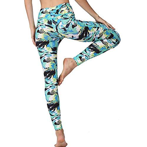 Women's High Waist Yoga Pants-Hips Anti Cellulite Slimming Printing Leggings