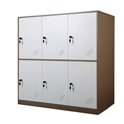 Amazon.com : 6 Door Small Bedroom Furniture, Metal Locker ...