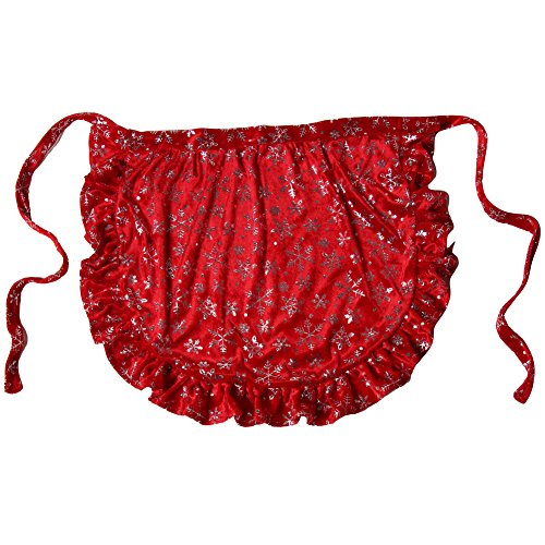 Mrs Santa Costume Size 20 (Making Believe Mrs. Santa Claus Christmas Holiday Accessory Apron (One Size, Red Snowflake Velour Apron))