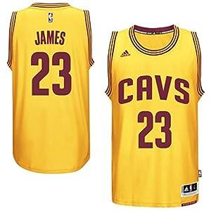Mens Cleveland Cavaliers LeBron James adidas Gold 2014-15 New Swingman Alternate Jersey